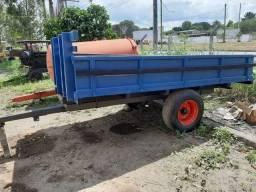 Carretinha agrícola, madeira do Pará, reforçada. R$6.500
