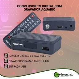 Conversor Digital de TV Aquario DTV-4000s com gravador full HD