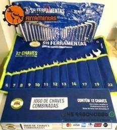 Kit Chaves combinadas 12 Pçs + Chaves Hexagonal (Allen) 25 Pçs Novo
