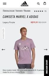 T-shirt Marvel Adidas (Nova Original)