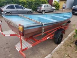 Barco 5m + Reboque 5,5m + Motor 6,5HP