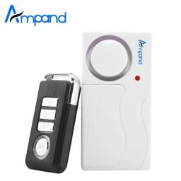 Kit 3 alarmes residencial sensor de arrombamento acionado controle remoto