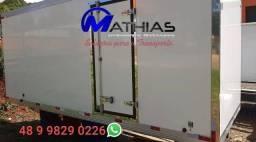Título do anúncio: bau frigorifico 4.50mts paleteiro novo semi novo Mathias implementos