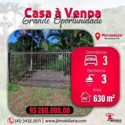 Título do anúncio: V1289 Casa com área perfazendo 630m² Rua Profeta Jeremias