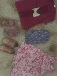 Vendo roupa infantil e sapatos