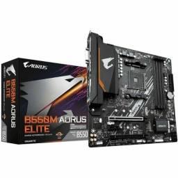 Placa mãe Aorus / Modelo b550m elite para processadores AM4- micro ATX / Novo
