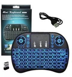 Mini teclado mouse iluminado sem fio LED (produto novo)