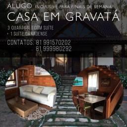 Casa em Gravatá para aluguel e FDS