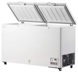 Freezer horizontal 503L com 2 tampas c/ fechadura - pronta entrega