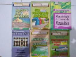 6 livros de Matemática.