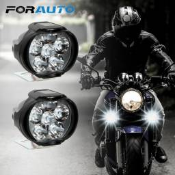 Par De Farol Moto De Neblina Led 1200 Lumens Super Brilhante