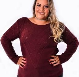Blusa tricot plus size
