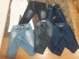 Lote calças n 36 e 38 c 06 peças
