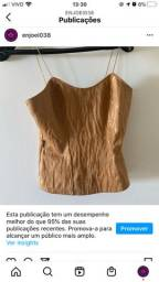 Blusa estilo corset