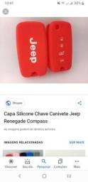 Capa da chave de silicone do jeep renegade vermelha
