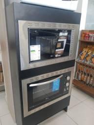 Conjuntos forno e forno microondas Fischer embutir * cesar