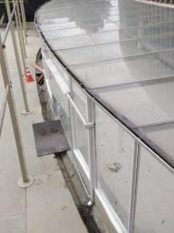 Vidros para cobertura ou muro
