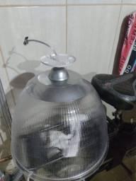 Luminária de teto redonda de plástico