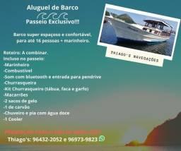Aluguel de barco / lancha de madeira ;)