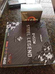 Ryzen 5 3600 + b450m asrock steel legend