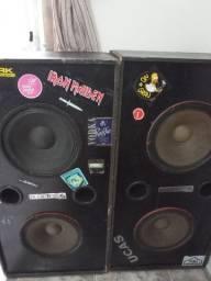 Caixas de som com alto falantes de 12 polegadas