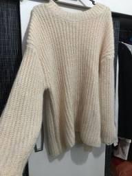 Casaco 100% lã comprado fora do brasil e usado uma única vez