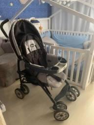 Carrinho de bebê + bebê conforto + base para carro Chicco