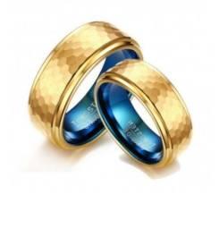 Aneu Tungstênio Banhada a Ouro e Azul