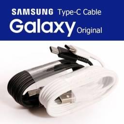 Cabo Samsung Tipo C / Cabo Samsung Micro USB carregamento rápido  Preto / Branco