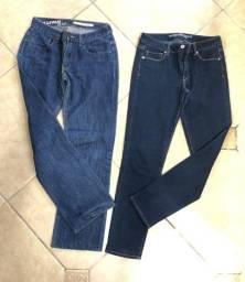 Calca de brim DK jeans e American Eagle num 42 em santa cruz do sul