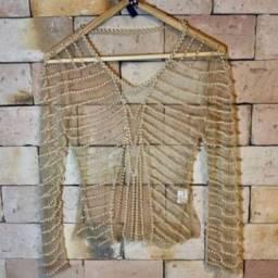Vendo blusa de pérola da uzze M
