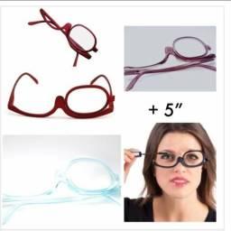 Óculos de gráu para fazer maquiagem e sombrancelha