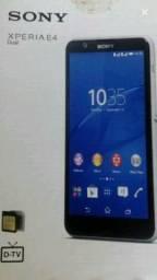 Celular Sony xperia E4 dual e TV HD digital.