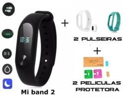 Xiaomi Mi Band 2 Original + 2 Pulseira Extra + 2 Películas - Miband