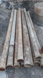 Vendo 10 Tubos de ferro de 3' metros cada