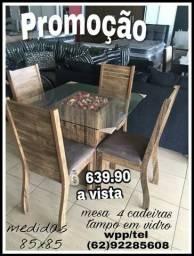 Promoção mesa pra sala d jantar 4 cadeiras