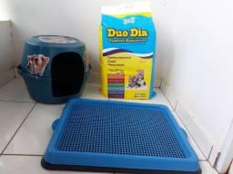 Kit Casinha + sanitário + Xixi Não 500ml + 30 tapetes higiênicos