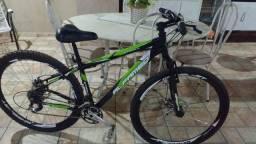 Bicicleta aro 29, alfameq, freio disco mecanico, peças deore xt, 29 velocidades