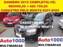 Renault Sandero 1.0 2015 Completo. Entr. R$5000,00 + 48x - 2015