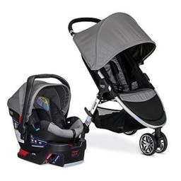 Carrinho Britax- B agile + Bebê conforto+ base para carro