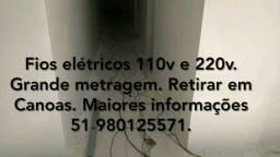 Fios elétricos 110v e 220v