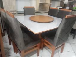 Mesa de vidro 6 cadeiras NOVO