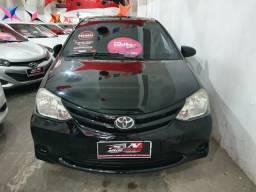 Toyota Etios Sedan 2015 1 mil de entrada Aércio Veículos chb - 2015