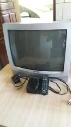 Tv 20 polegadas de tubo com controle
