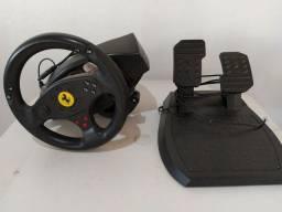 Volante e pedal thrustmaster ferrari