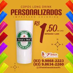 Copos long drinks promoção