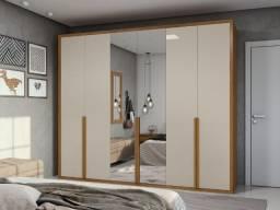 Título do anúncio: Guarda Roupa Casal Unique com Espelho 6 Portas 6 Gavetas - Entrega Grátis p/ Fortaleza