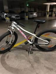 Bike RipRock 24- branco e rosa