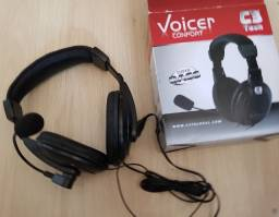 Fone e Microfone Headset C3 Tech Voicer - Novo - Gamer