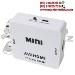 Mini Adaptador Conversor Vídeo Composto 3 Rca Av para Hdmi em São Luís Ma